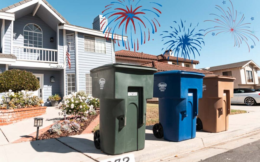 NEW WEEKLY 3-CART TRASH SERVICE Starts July 5 – and NO DELAY Due to 4th of July Holiday